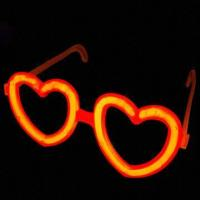 Buy cheap Glow-in-dark Heart Glasses with 8-inch Glow Stick, Ideal for Party Light from wholesalers