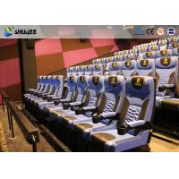 Arc Screen 4D Cinema Equipment Simulator Motion Chairs Customized Color SGS Manufactures