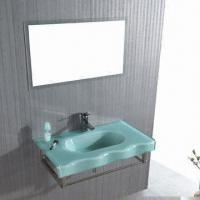 Buy cheap Vanity with Glass Basin, Measures 1,200 x 520mm from wholesalers