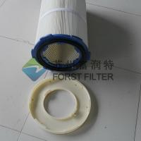 China FORST Manufacturer Ployester Material Metal Air Cartridges Rubber Cap Filters Cartridge wholesale