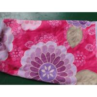 Weft knitted flower printed 30*60 microfiber cleaning cloth , microfiber home usaging towel Manufactures