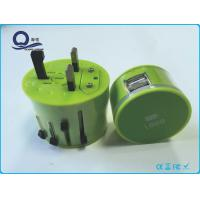 Dual USB Output IPhone USB Charger And Plug Customized LED Logo Green Color Manufactures