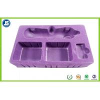 Beautiful Hairy Purple Flocking Tray PS Flocking 0.8mm For Beauty Instrument Manufactures