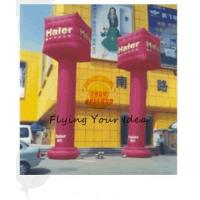 0.4mm PVC Tarpaulin Advertising Helium Balloons Inflatable Pillar For Entertainment Events Manufactures