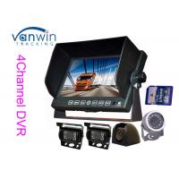China Bus / truck / trailer / coach 7 inch TFT Car Monitor AHD with 720P camera , SD Card on sale