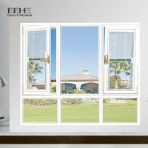 Double Glass Silvery Aluminum Casement Windows For Villa Wear Resistant Manufactures