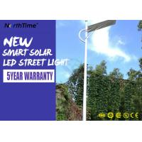 China Aluminum Solar Powered Road Lights IP65 Wall / Pole Mount Night Area Security Lighting 3000LM on sale