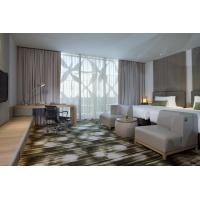 Quality Fashion design of Apartment Hotel Room Natural Oak wood Bed and Lounge Bench for sale