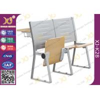 China Metal And Plywood Structure School Desk Chair With Reading Pad For Lecture Room on sale