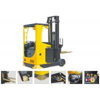 Seat Type Electric Reach Truck Forklift , Narrow Aisle Reach Truck 6.2m Lifting Height Manufactures