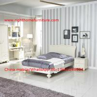 Neoclassical design Single Bed Apartment Interior Furniture with Bookcase set and Small wardrobe Manufactures