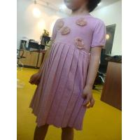 Funky Girls Fall Dresses Little Girl Ruffle Dresses Pink Sliver Lurex  Roses Decorations Manufactures
