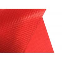 Pvc Red Polyester Oxford Fabric 20*20 Density Apply To Shoes Textile / Industry