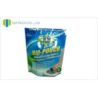 Blue Aluminum Ziplock Stand Up Pouches Environmental With Gravure Printing Manufactures