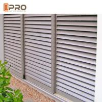Quality Customized Aluminum Louver Window For Ventilation Adjustable Blinds And Sun Control for sale