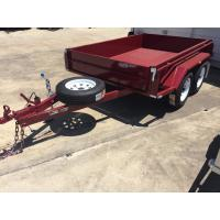 Heavy Duty Industrial 10x5 Tandem Box Trailer 2000KG Wtih Rolled C / Plate Floor Manufactures