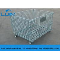 China Workshop Metal Shelf Wire Mesh Storage Cages  Easy To Inventory on sale