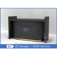 Matte Black Store Jewelry Display Cases / Jewellery Counter Display Manufactures