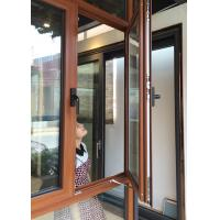 China Inward Swing Opening Casement Window With Tempered Glass / Aluminum Clad Casement Windows on sale