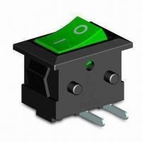 2-pin Rocker Switch with 250V DC, 0.5A Rating, 10,000 Cycles Mechanical Lifespan Manufactures