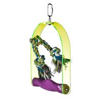 small arch acrylic sandy bird swings, for cockatiel and lovebirds,9 inches Manufactures