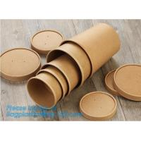 Disposable kraft paper soup cup_Double wall disposable hot coffee kraft paper soup cup_Easy Take away cups lid spoon Manufactures