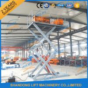 China CE TUV1.5T 3.5M Warehouse Hydraulic Scissor Lift Scissor Lift Platform for Cargo on sale