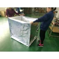 Antistatic Foil Insulated Box Liners Silver Color Ziplock Design Screen Printing Manufactures