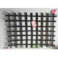 Durable Polyester Geogrid Reinforcing Fabric High Tensile Strength BLACK Manufactures