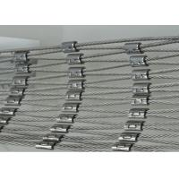 Professional Decorative Rope Mesh / Stainless Steel Cable Netting Wire Mesh Manufactures