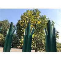 China Powder Coated Green Palisade Fencing , Metal Picket Fence Panels For Home on sale