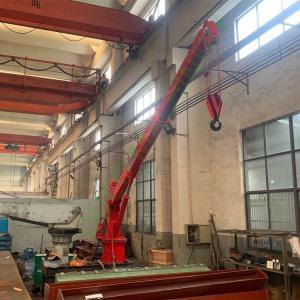 Electric 1.5T Loading 6M Offshore Pedestal Crane Manufactures
