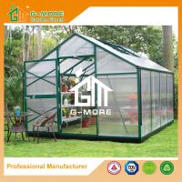 China Aluminum Greenhouse-Titan series-406X306X243CM-Green/Black Color-10mm thick PC on sale