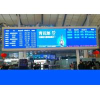 Led Railway Signs And Train Station Displays With Crystal Clear Led Boards Manufactures