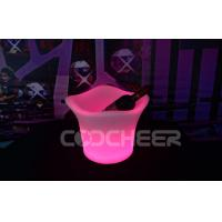China Plastic Material Led Ice Bucket Party Cooler Wine Glowing Ice Bucket on sale