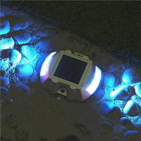 Waterproof Outdoor Security Solar Warning Light For Fence Patio Road Stud Yard Home Driveway Pathway Stairs Step Manufactures