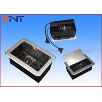 China Office Slip Up Cover Table Cable Cubby With HDMI , USB , VGA Ports on sale