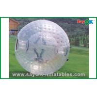 PVC / TPU Adults Human Hamster Ball Costco Transparent For Rental Manufactures