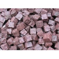 Granite Outdoor Natural Paving Stones For Garden / Patio Red Porphyry Manufactures