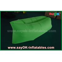 Buy cheap Green Nylon Ripstop Fabric Inflatable Sleeping Bag / Air Sofa For Adults CE from wholesalers