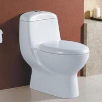 Ceramic One Piece Toilet with 4-inch Diameter for Outlet and Siphonic/Wash-down Flushing