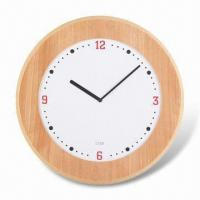 Super Slim Wall Clock with Wooden Case and Convex Glass Manufactures