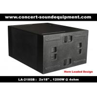 """Line Array Sound System / 2x18"""" Horn Loaded 4ohm 1200W Subwoofer For Concert And Living Event Manufactures"""