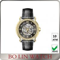 Beautiful Elegant Ladies / Mens Diamond Watches , Customised Automatic Mechanical Watch Manufactures