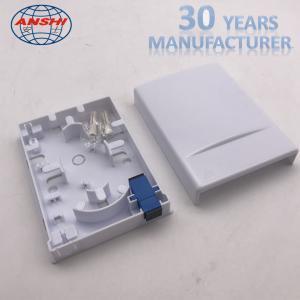 China 1 Port Single Fiber FTTH Distribution Box Socket Indoor Fibre Optic Termination Box on sale