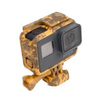 Standard Protective Camouflage Yellow Action Camera Housing Frame Case For GoPro Hero 5 Manufactures