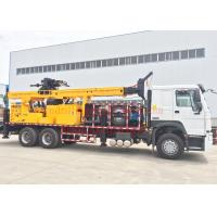 DTH Truck Mounted Water Well Drilling Rig Machine 600m Full Hydraulic Type Manufactures