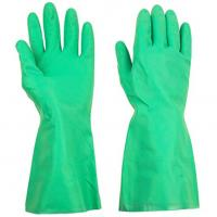 Green Reusable Long Household Rubber Gloves Oil Resisitance 33cm / 45cm Length Manufactures