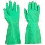 Green Reusable Long Household Rubber GlovesOil Resisitance 33cm / 45cm Length Manufactures