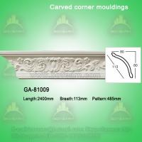 China Factory Price PU Foam Carved Crown Cornice Mouldings on sale